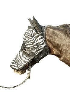 Fliegenmaske Zebra mit Nüsternschutz